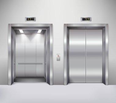 Elevator door illustration