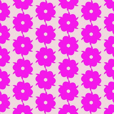 Flower with petals. Seamless pattern. For backgrounds and textures. Illustration.