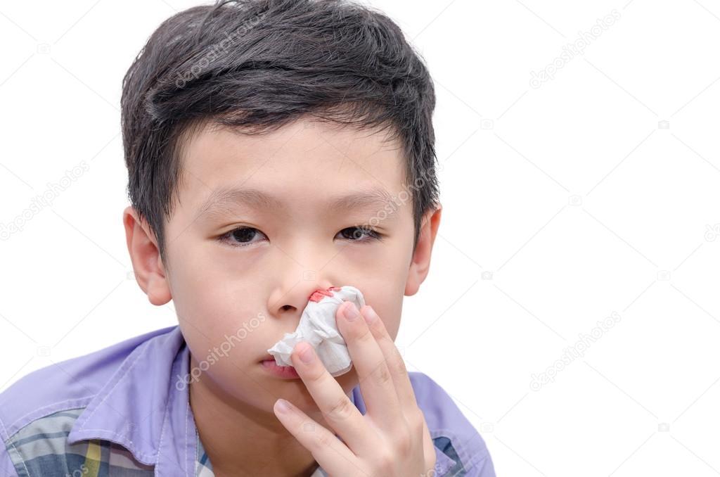 blod i näsan