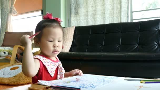 színes ceruza rajz kép lány
