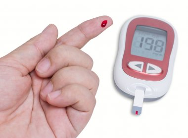 Hand testing for high blood sugar