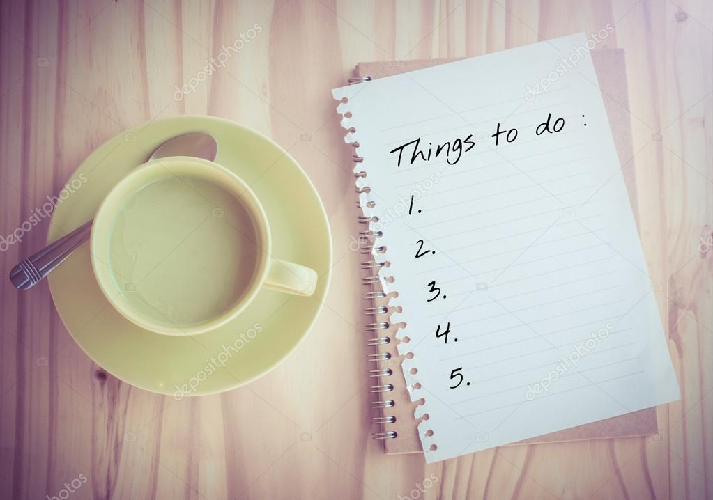 Things To Do List on paper