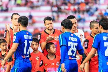 SISAKET THAILAND-JUNE 21: Victor Amaro of Sisaket FC. (middle) s