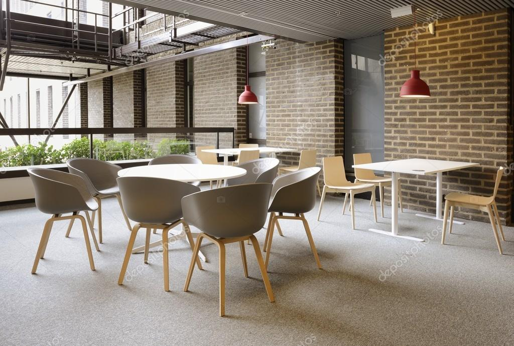 moderne cafetaria interieur stockfoto
