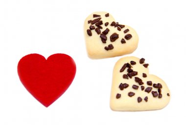 Biscuits and red little heart