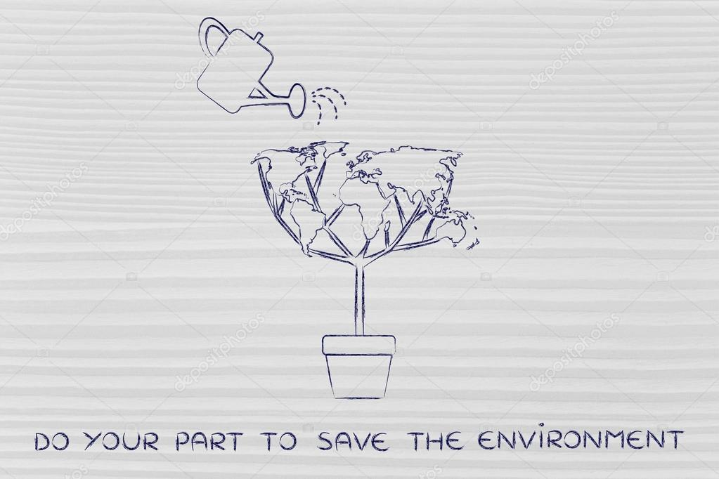 do your part to save the environment concept