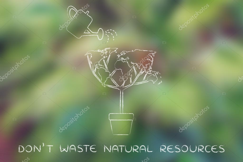 Don't waste natural resources concept — Stock Photo