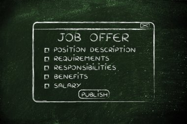 job offer elements to include before publishing