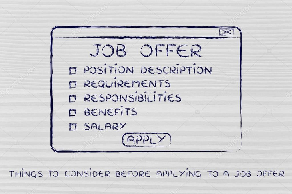 Things To Consider Before Applying A Job Offer Stock
