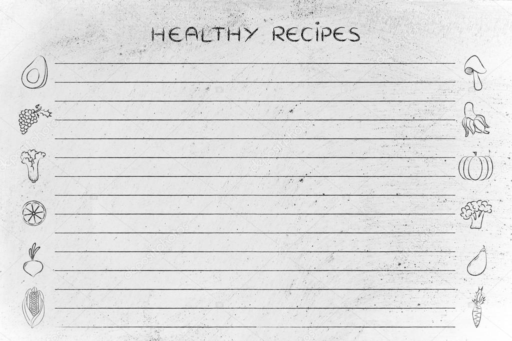 gesunde Rezepte-Vorlage — Stockfoto © Faithie #102917034