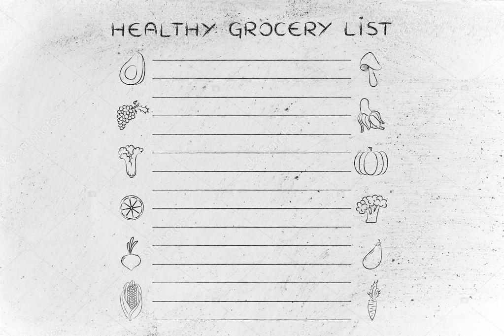 Vorlage für gesunde Lebensmittel — Stockfoto © Faithie #102917556