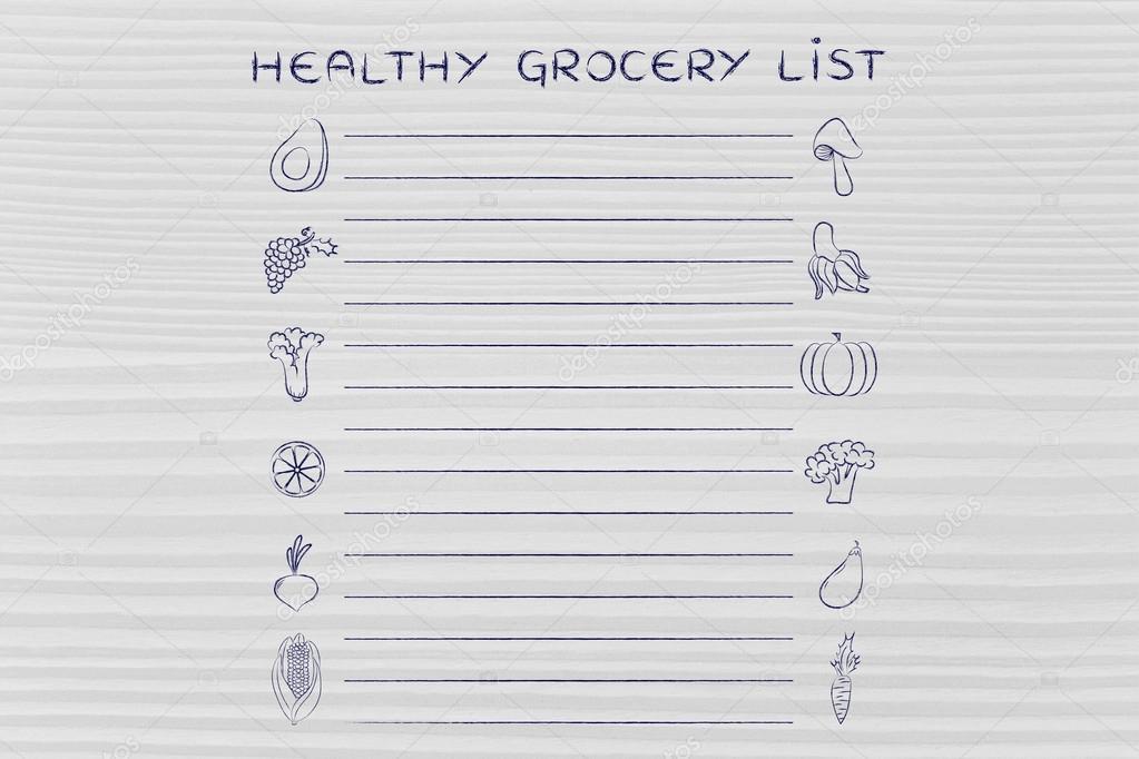Vorlage für gesunde Lebensmittel — Stockfoto © Faithie #102918304