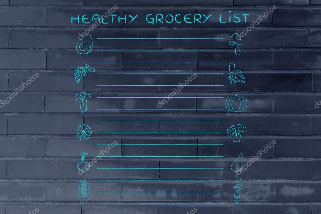 Vorlage für gesunde Lebensmittel — Stockfoto © Faithie #102919274