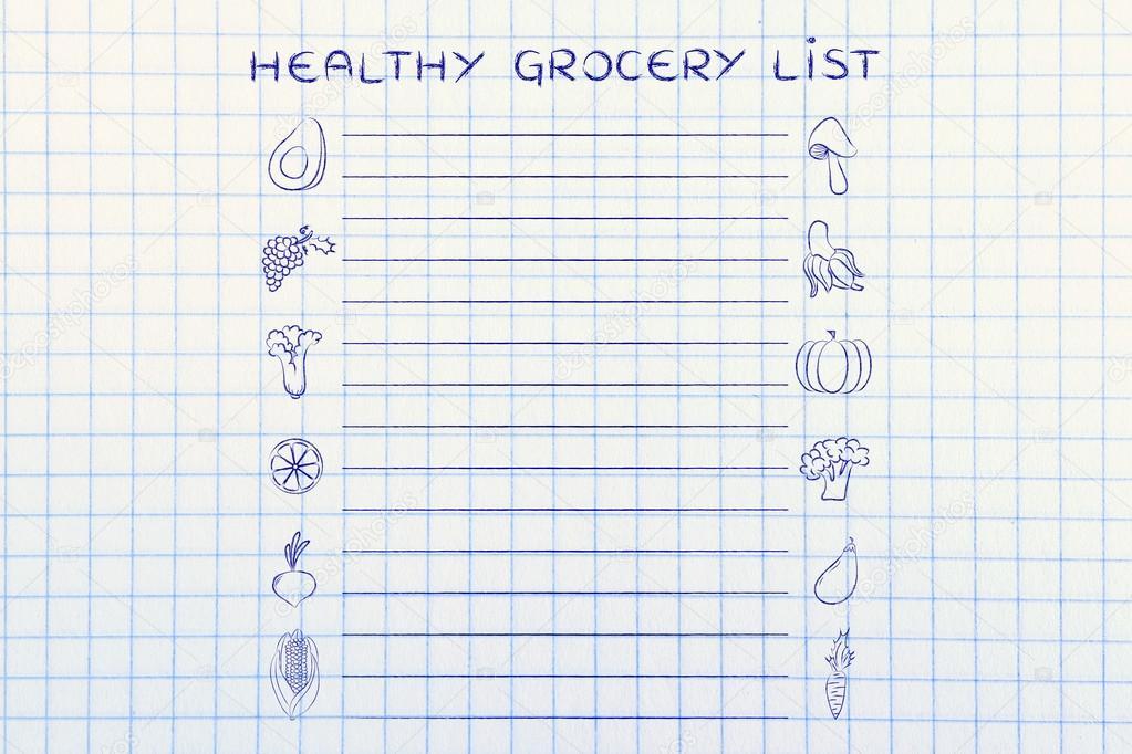 Vorlage für gesunde Lebensmittel — Stockfoto © Faithie #102925034