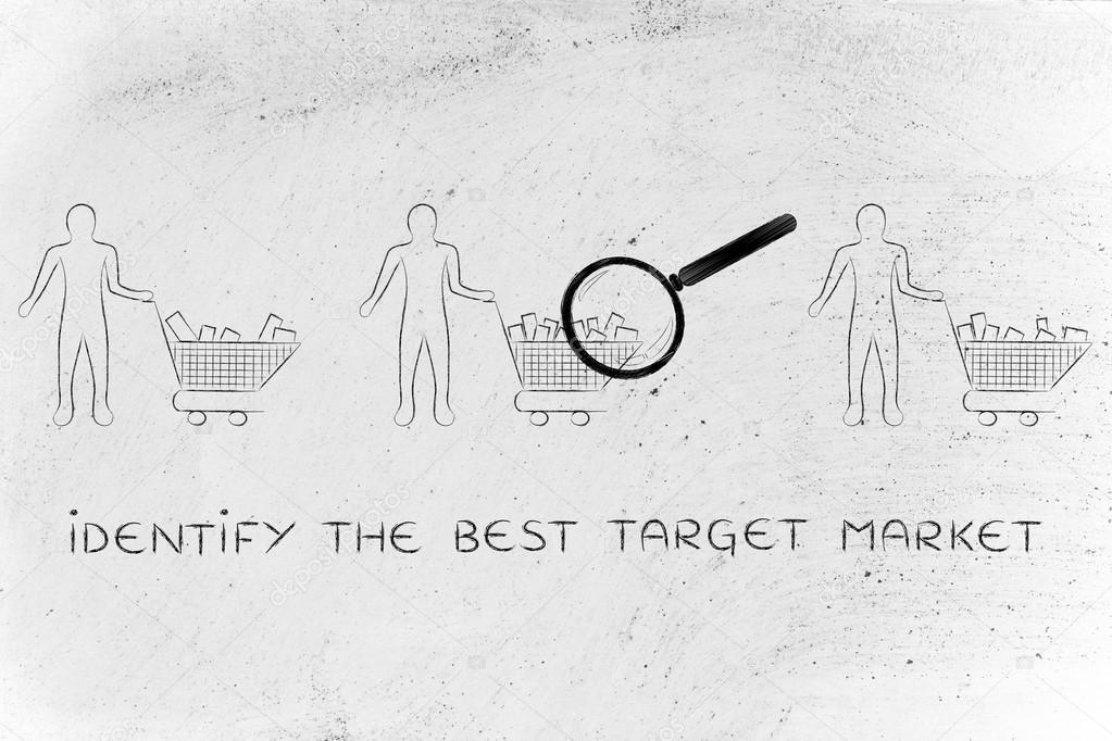 concept of how identify the best target market ストック写真