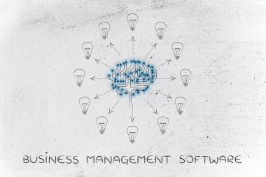 concept of business management software