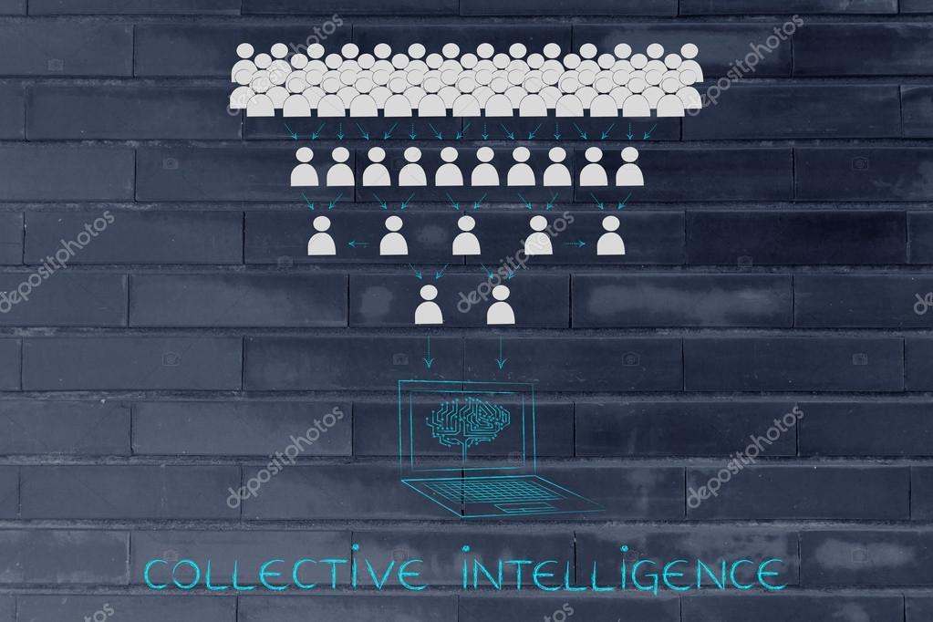 集団的知性の概念 — ストック写...
