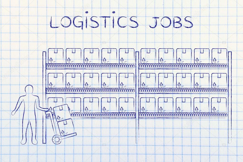 concepto de puestos de trabajo de logística — Foto de stock ...