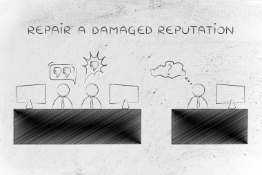 concept of repair a damaged reputation
