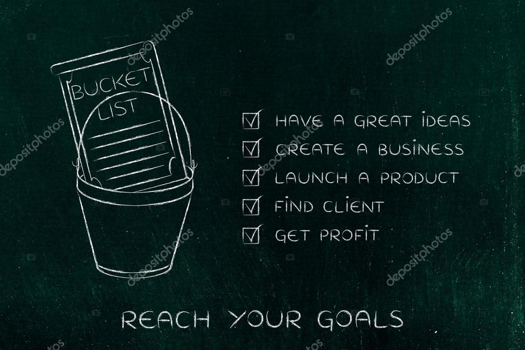 Bucket List With Innovative Business Success Checklist Version