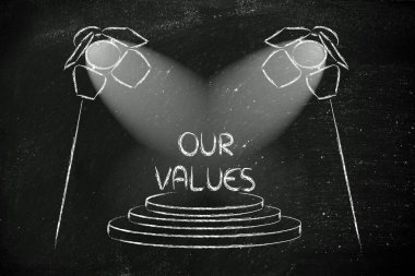 spotlights on business success, our values