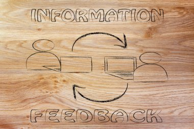 information and feedback, computer users exchanging opinions