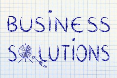 Concept of choosing the best business solution