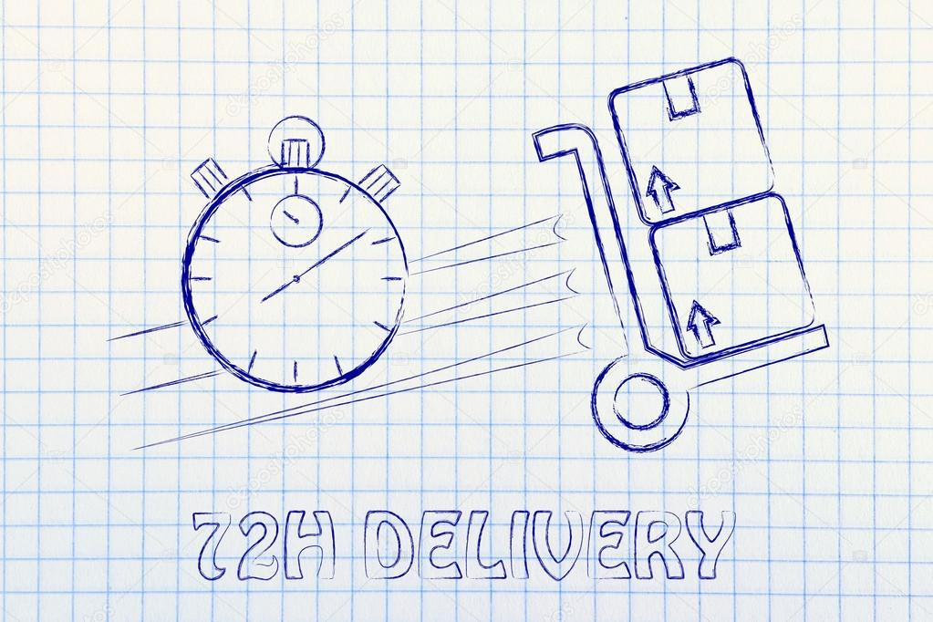 Fast 72 hours delivery illustration — Stock Photo © Faithie