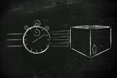 Fast delivery time illustration