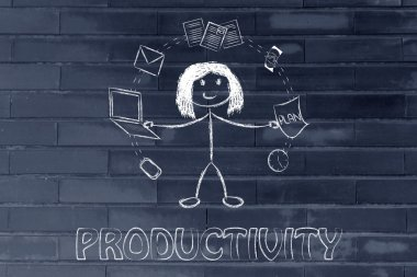 Productivity and multitasking concept