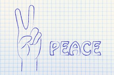 Hands making peace sign