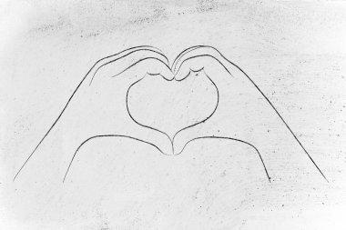 Hands making a heart sign