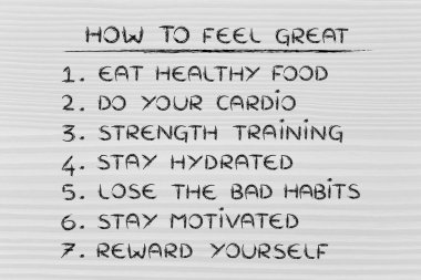 Set of rules for a good lifestyle