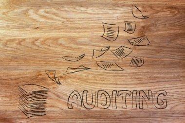 Corporate auditing procedures concept