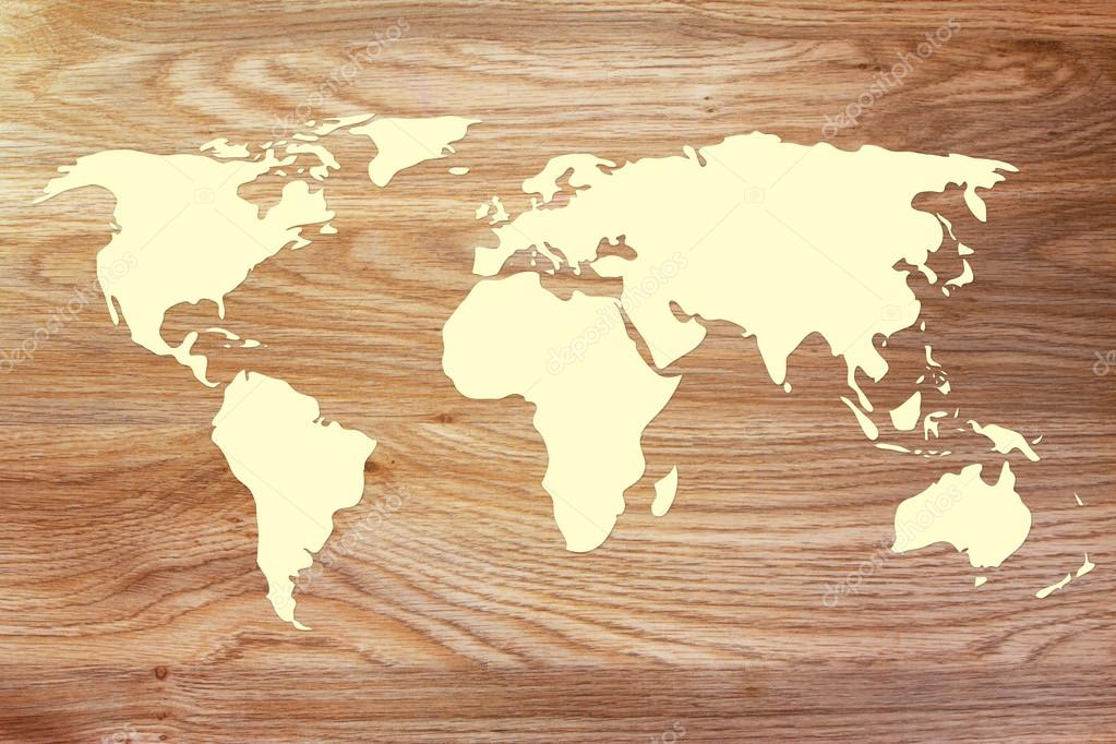 World map outline on wood texture stock photo faithie 72932201 desk or wooden texture with world map silhouette photo by faithie gumiabroncs Image collections