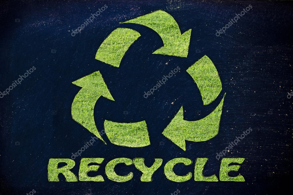 Recycle Symbol Made Of Grass Stock Photo Faithie 73307973