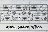 Open space kanceláře a týmová práce