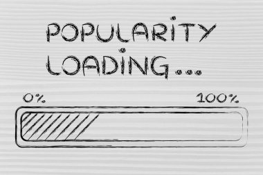 funny progress bar with popularity loading
