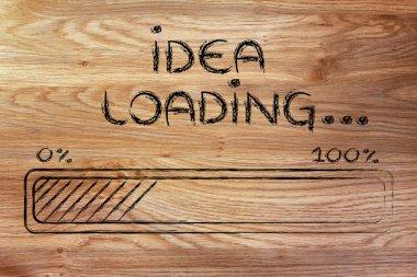funny progress bar with idea loading