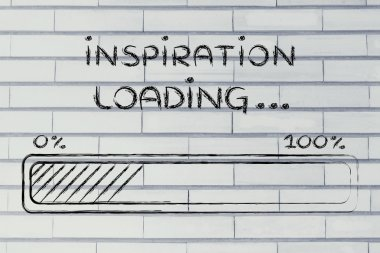 funny progress bar with inspiration loading