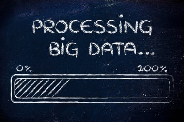 funny progress bar processing big data