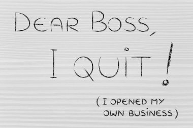 Handwritten message to the boss