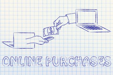 concept of online purchases
