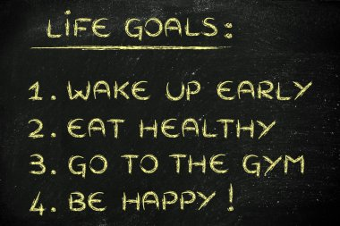 healthy lifestyle goals