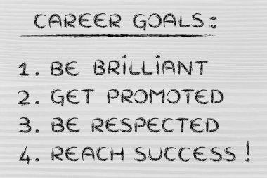 sucessful career goals