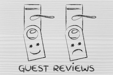 Hotel guest reviews illustration