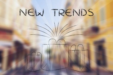 New trends and the fashion industry illustration