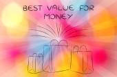 Fotografie Shopping für den besten Wert für Geld-illustration