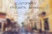 Zákazníků oblíbené značky ilustrace
