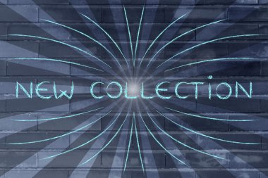 New collection shopping illustration